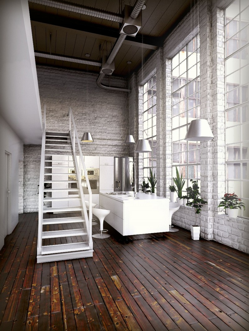 Loft open space foto arredo interni for Foto interior design