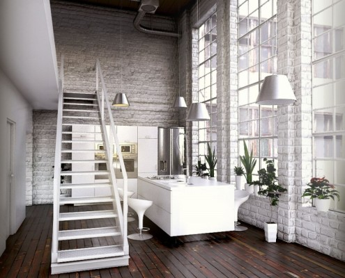 Loft open space foto arredo interni for Arredo interni design