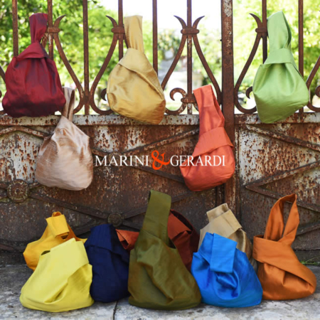 borsa sacchetto molly chic Shantung in Seta moda estate 2020